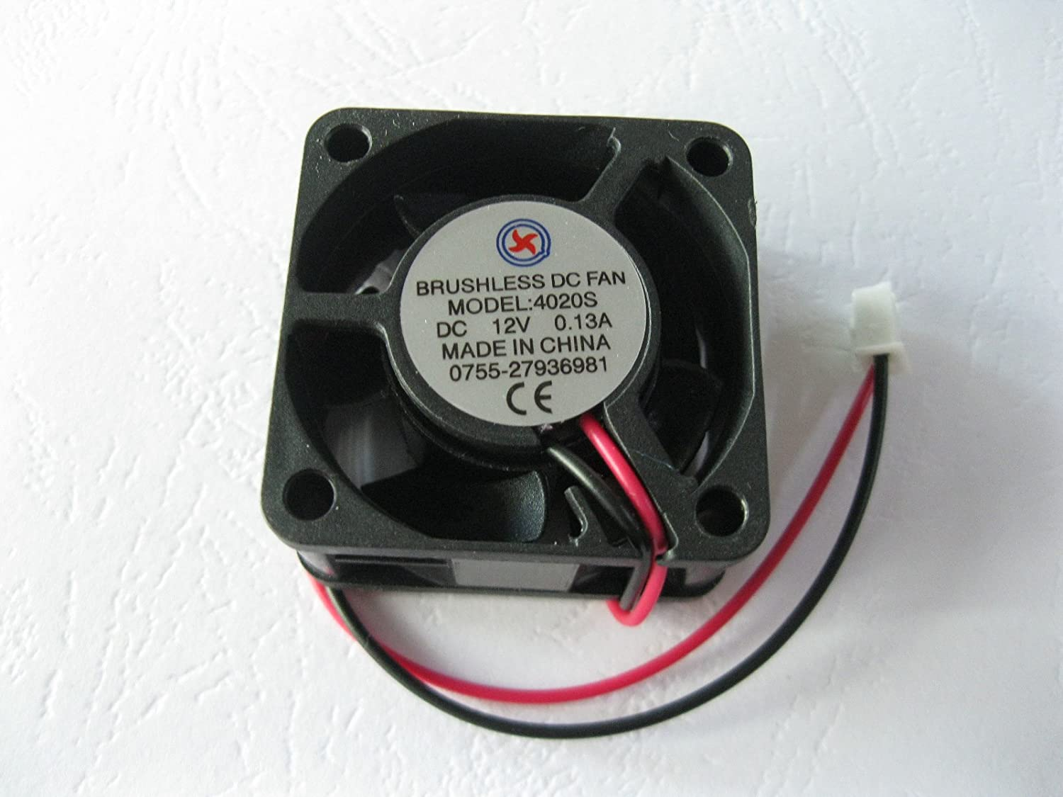 1 Pcs DC Fan 12V 4020 2 Pin 40x40x20mm Brushless DC Cooling Blade Fan