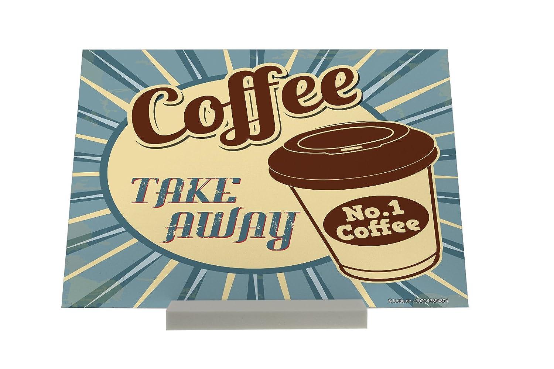 Soporte Fotografias Coffee Cafe Bar Café a llevar Letrero: Amazon.es: Hogar
