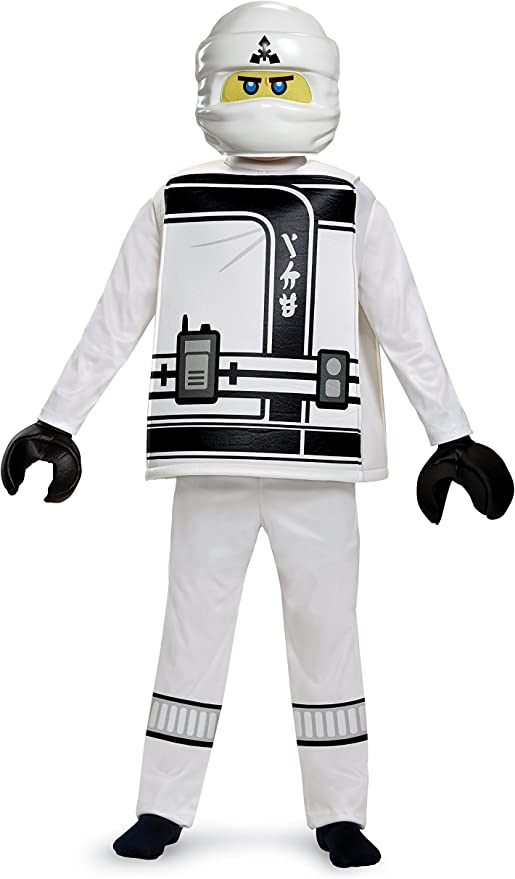 Lego Ninjago Movie Official Products ZANE  Dress Up Costume 4-6 years
