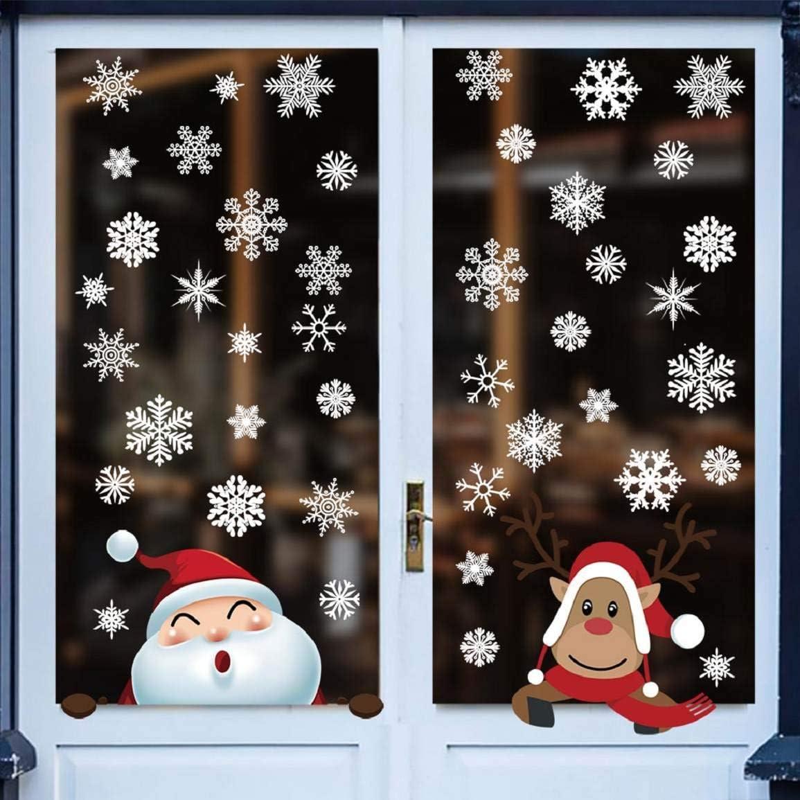 2x feuilles de Noël Autocollants-Fun-Décoration-Kids