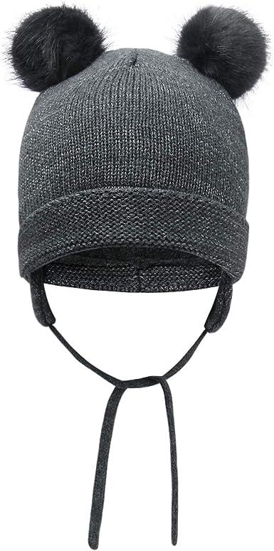 vivobiniya Baby Winter Hats Toddler Girl Knitted Cap Baby Beanie Infant Hats 0-4years Old