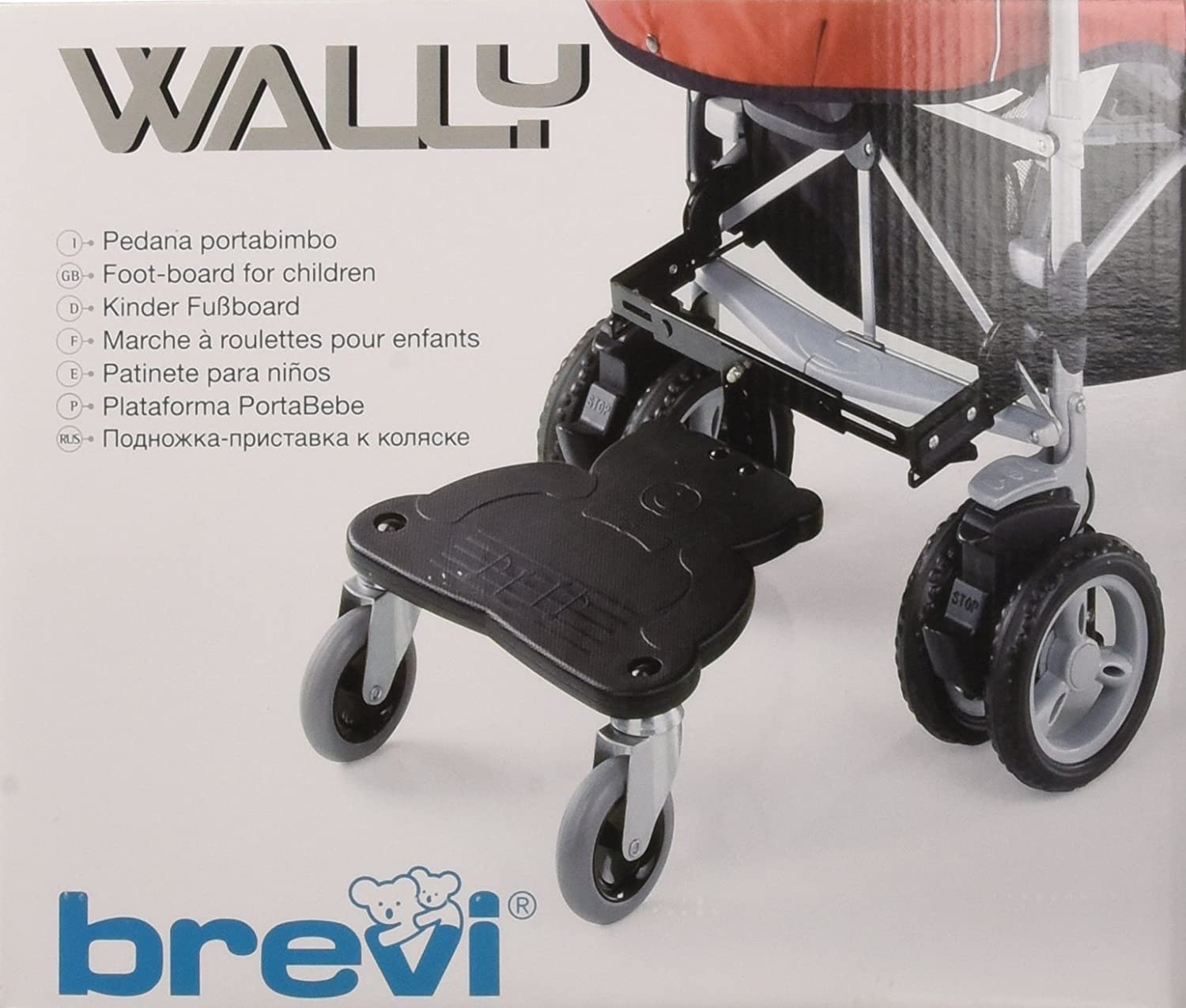 Brevi Wally Footboard for Buggy or Pram (Black) 700-000
