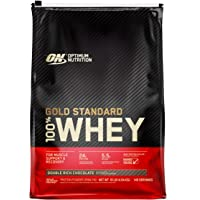 Optimum Nutrition 100% Whey Gold Standard, Double Rich Chocolate, 10lbs