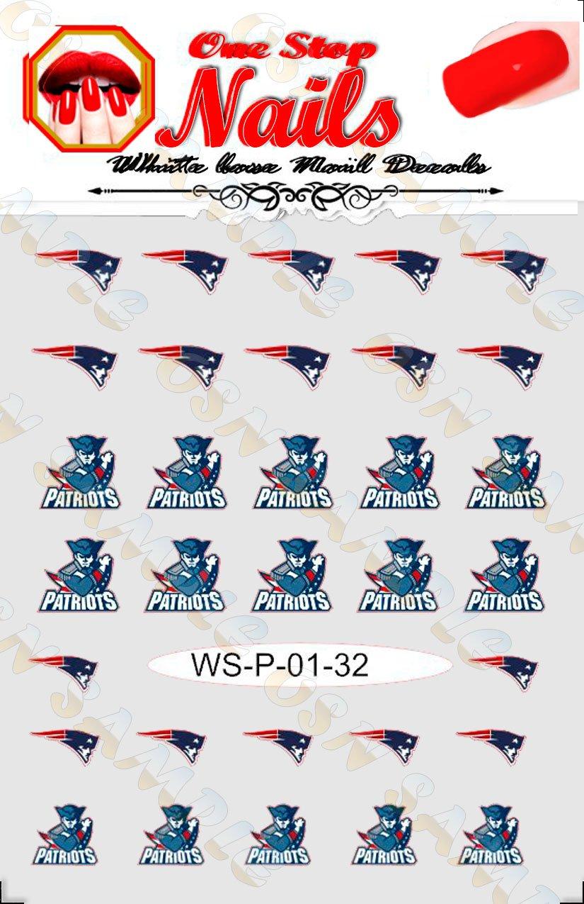 Amazon.com: New England Patriots Vinyl Peel and Stick nail decals ...