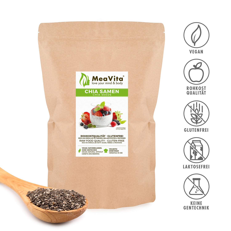Las semillas de chía, MeaVita premium paquete 1er (1 x 1000 g ...