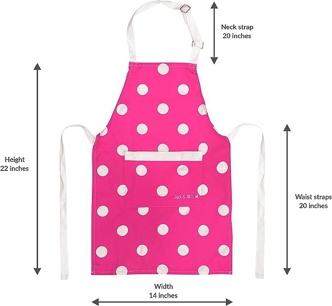 Niños Delantal Personalizado con estrella Baker Designs Children/'s 100/% Algodón Niña Niño