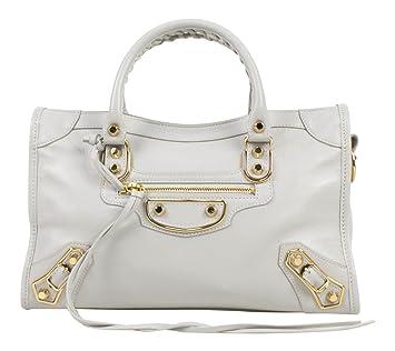 111fe5f125e7 Amazon.com  Balenciaga Gray Leather Giant 12 Metallic City Small AJ Satchel  Bag  Baby