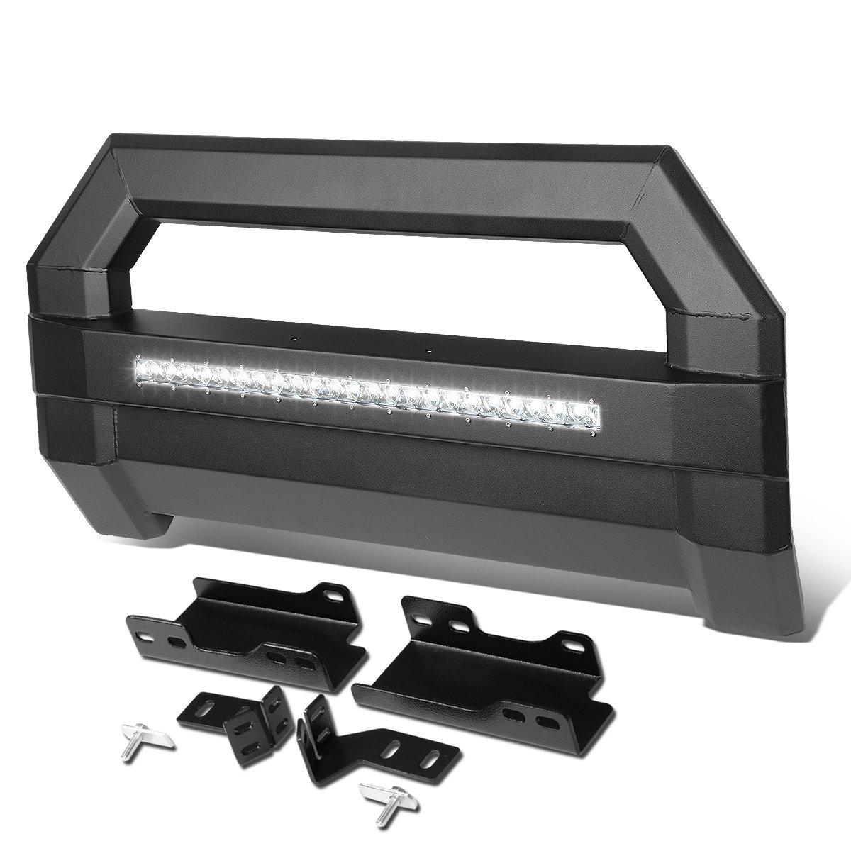 For Chevy Tahoe/GMC Yukon Square Tube Lightweight Bull Bar w/LED Light+License Plate Relocation Kit (Black) Auto Dynasty