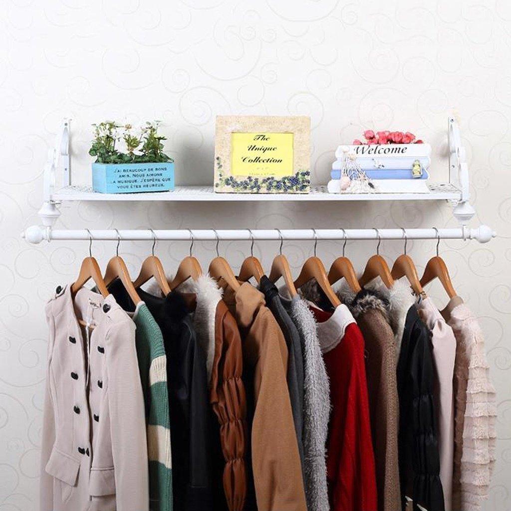 White 12028cm Nevy Brands Coat Rack Multifunctiona Solid Wood Shelf Wall Hanging Combination Hanger Living Room Bedroom Corridor Hanger (color   Black, Size   120  28cm)