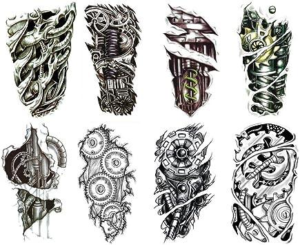 Tatuaje Ephemere hombre de mesa sobre el brazo o pierna/Style ...