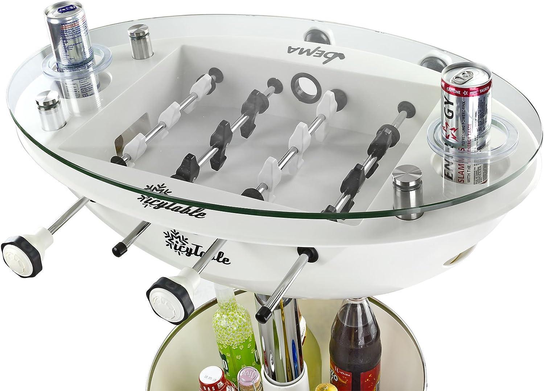 Mesa alta de Vegas de colour blanco con mesa de futbolín: Amazon ...