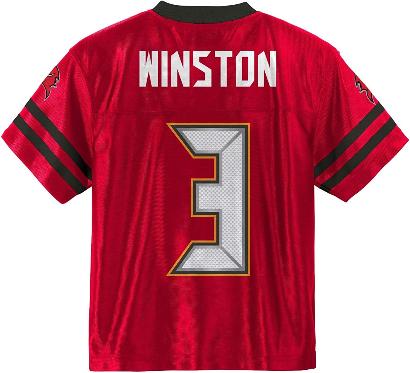 Outerstuff Jameis Winston Tampa Bay Buccaneers #3 NFL Youth Mid-Tier Jersey Red