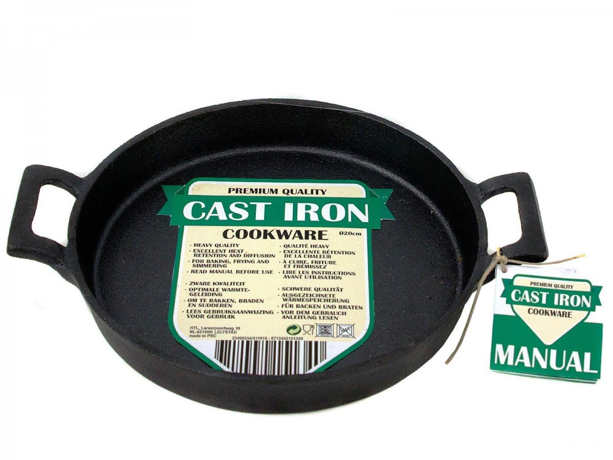 Cast Iron Skillet Frying Fry Grill Cook Bake Griddle Oven to Table Round Pan HIT