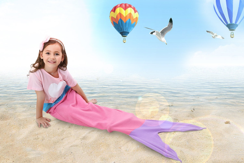 amazon com ibestuff luxury mermaid tail blanket soft polar fleece