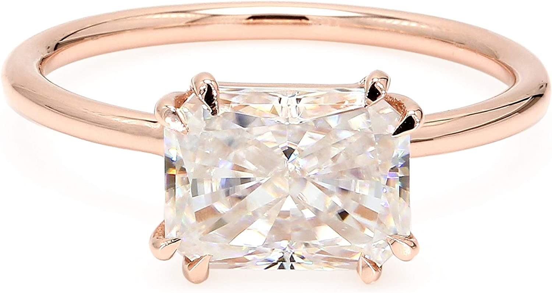 Solitaire 2 Ct Round Cut Moissanite Diamond Ring For Engagement RingWedding RingAnniversary Gift For Her