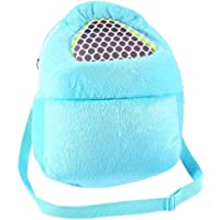Pet Carrier Bags Hamster Rat Hedgehog Rabbit Sleeping Bag Breathable Portable Outgoing Travel Handbags Backpack With Shoulder Strap ( Color : Blue )