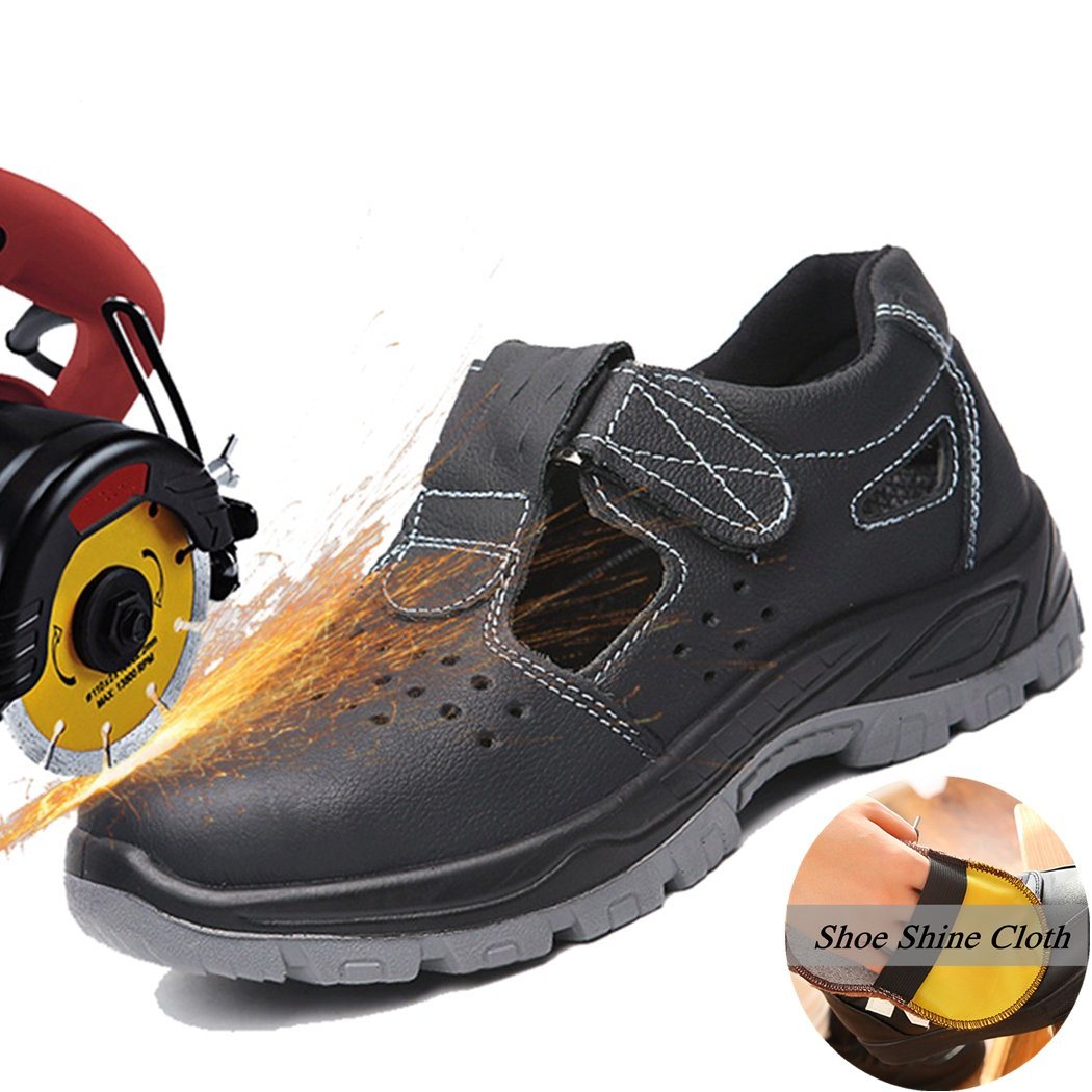 Men's Athletic Steel Toe Breathable Mesh Lightweight Work Shoes