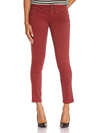 b74bb5466bfd Corleone pantalon - femme - rouge (grenat) - w31 l30  Amazon.fr ...