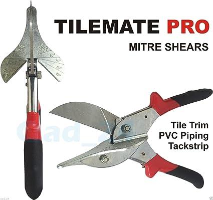 Tijeras de inglete Tile Mate Pro, hoja multiángulo, tubo de corte de UPVC,