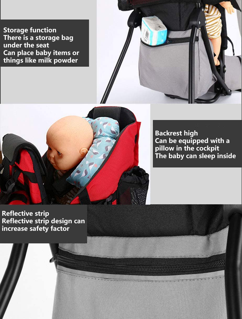 ZSPXZZ Premium Cross Country Baby Carrier Baby Toddler Backpack Cross country Carrier w//Stand Child Kid Sunshade Visor,Upgraded foot straps,Holds up to 50 Pound Ideal,B