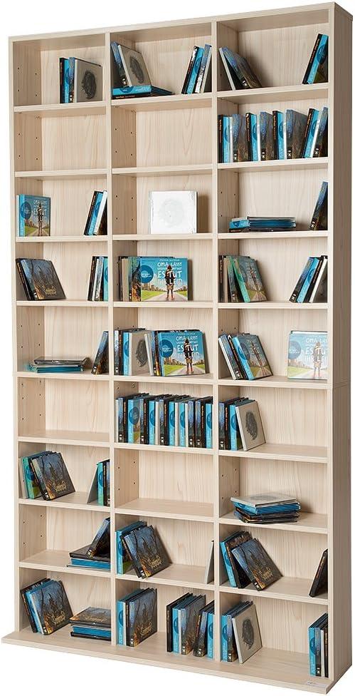 TecTake Estante de CD DVD Shelf archivado 1080 CDs DVDs (401702)