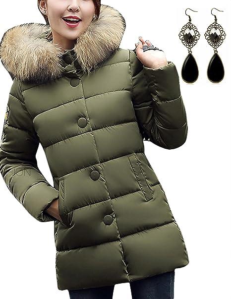 sitengle - Abrigo - chaqueta - Básico - Manga Larga - para mujer verde verde oliva Asiático XXL: Amazon.es: Ropa y accesorios