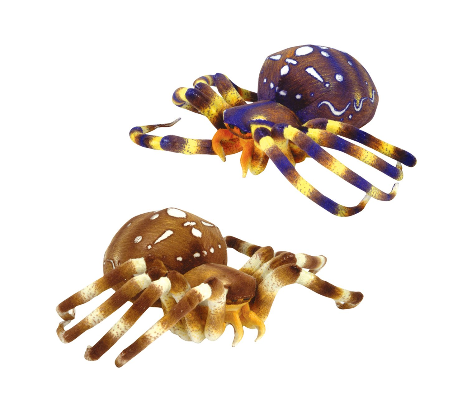 8 inch Adventure Planet Plush SPIDERS Set of 2 different - Blue /& Brown