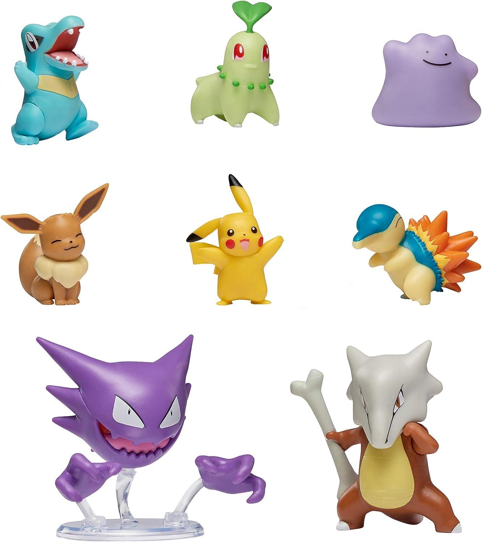 Pokemon Battle Figure Multi 8 Pack, Featuring 2