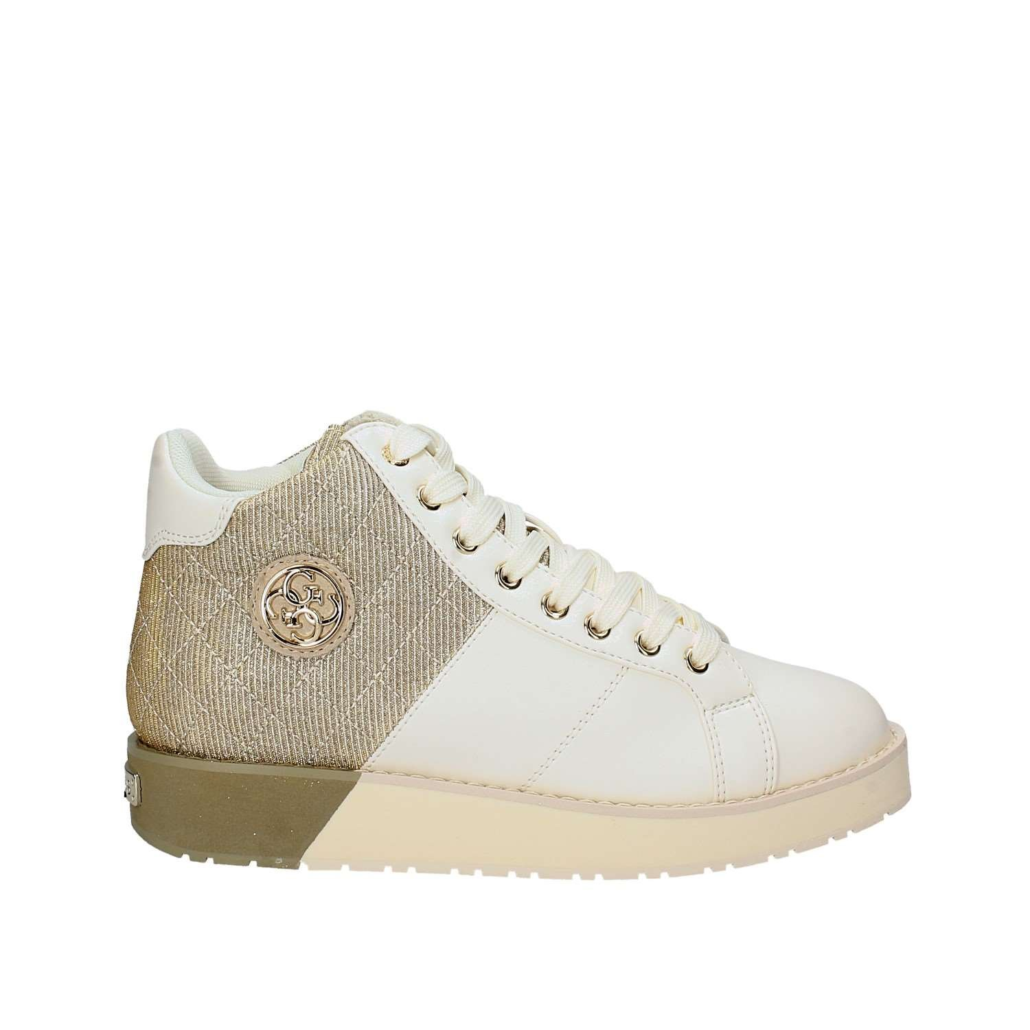 Guess Weiß Turnschuhe with metallic Fabric Debby