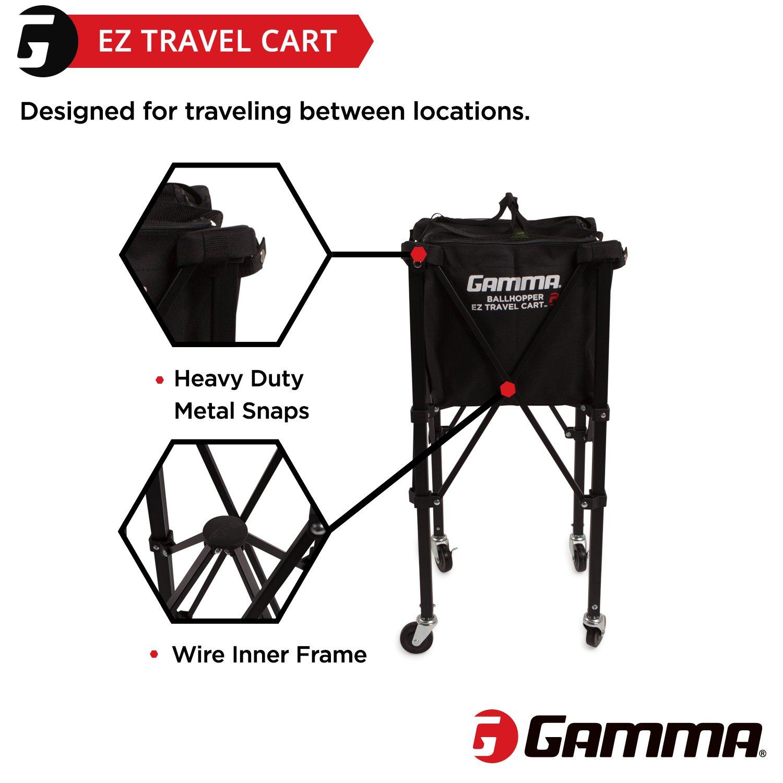 1efec79586 Amazon.com   Gamma Sports EZ Travel Cart Pro 150 Ball Hopper