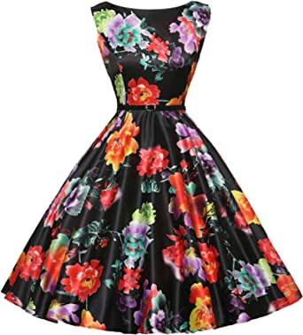GRACE KARIN Vestido de fiesta vintage de los años 50 con cinturón de verano