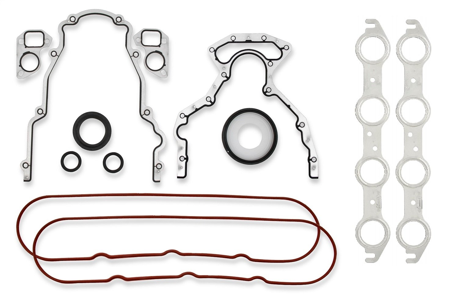 Mr Gasket 61000G Engine Conversion Gasket Set  Incl. Water Pump/Timing Cover/Rear Cover/MLS Header Gaskets Harmonic Balancer/Rear Main/Oil Pump/Oil Pickup Seals Engine Conversion Gasket Set