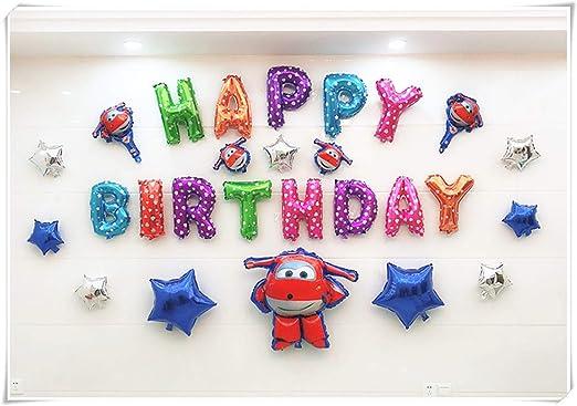 Decoración de cumpleaños infantil, globo de aluminio, edad ...
