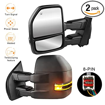 Amazon com: MOSTPLUS New Power Heated Towing Mirrors for