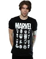Marvel Men's Comics Multi Heads T-Shirt