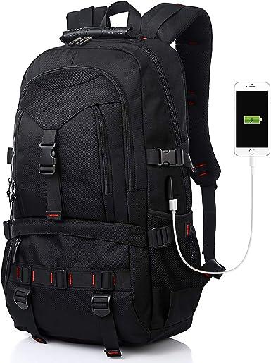 Anti-thief Waterproof Backpack 17 Inch Laptop USB Interface Multi Function Bag