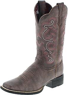 Corral Boots Circle G by L5079 Distressed Brown Bone Lederstiefel Damen Brown Westernstiefel, Groesse:38.5 (8 US)