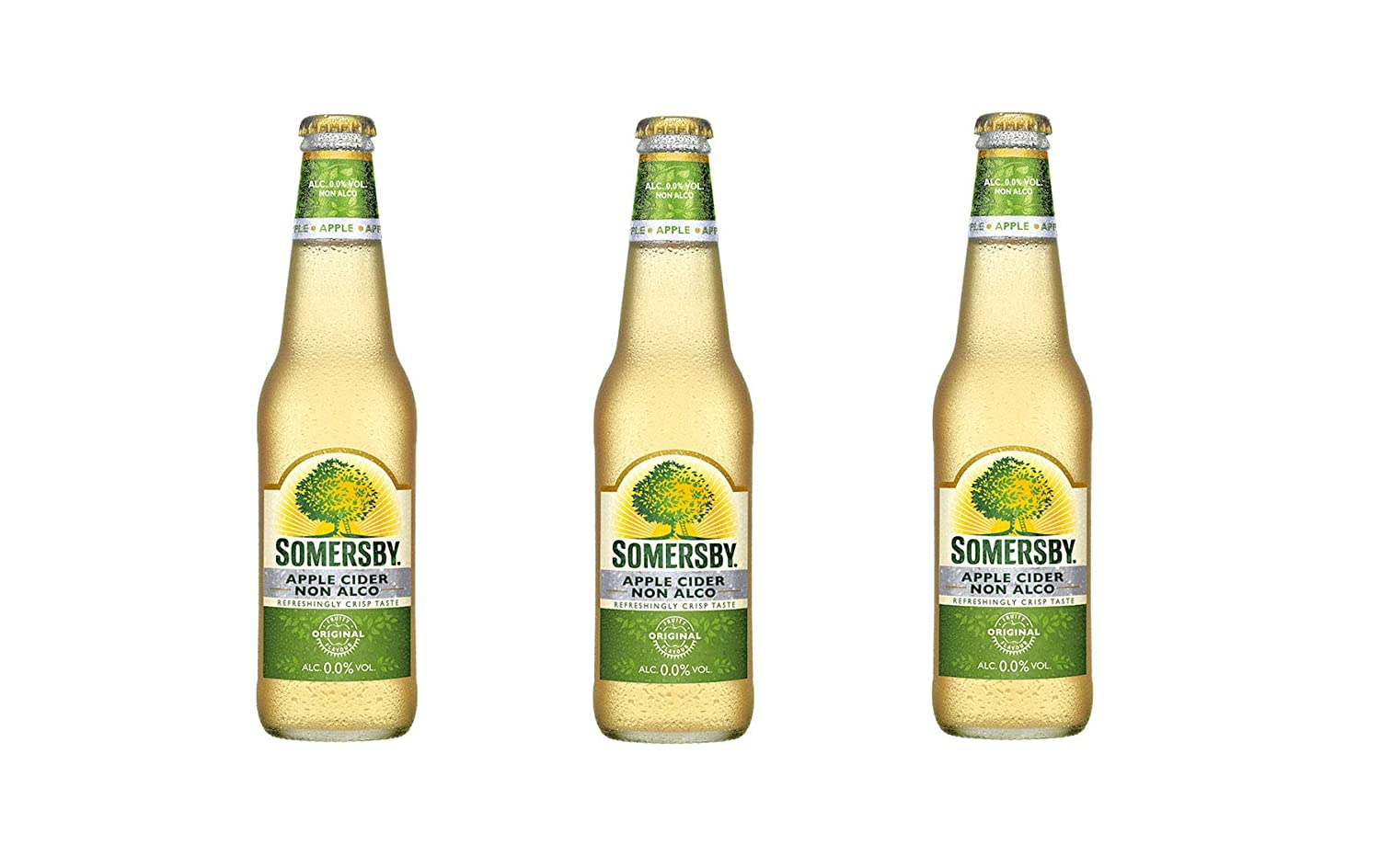 SOMERSBY Non-Alcohol, Alcohol Free Apple Cider, Carbonated Soft Drink - 330ml x 3