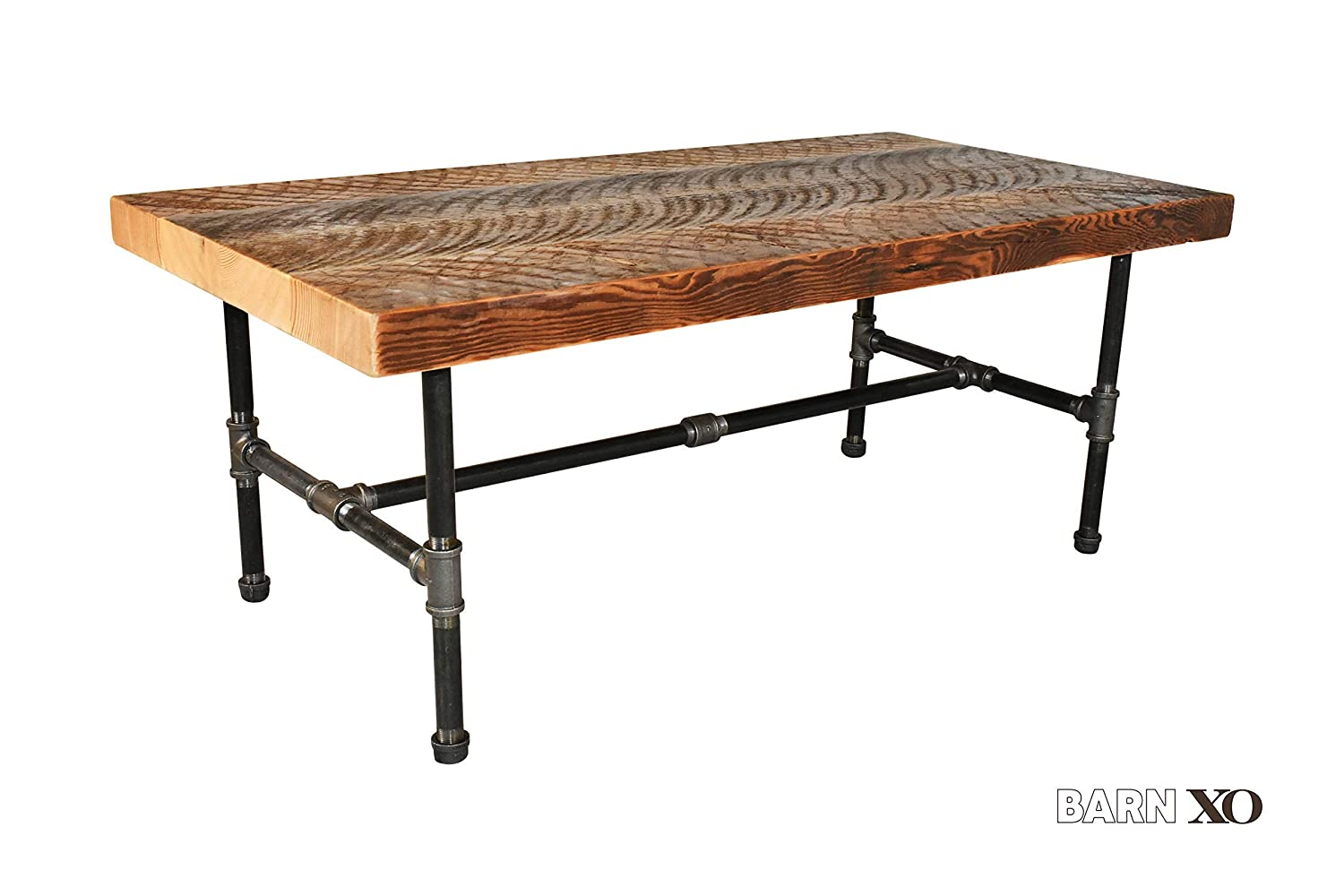 - Amazon.com: Square Coffee Table Made Of Reclaimed Wood And Iron