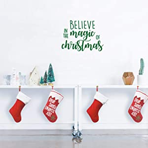 Vinyl Wall Art Decal - Believe in The Magic of Christmas - 17