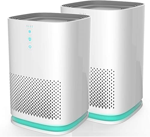 Medify MA-14 Medical Grade Filtration H13 HEPA Air Purifier for 200 Sq. Ft. 99.97 Allergies, dust, Pollen, Perfect for Office, bedrooms, dorms and Nurseries – 2-Pack
