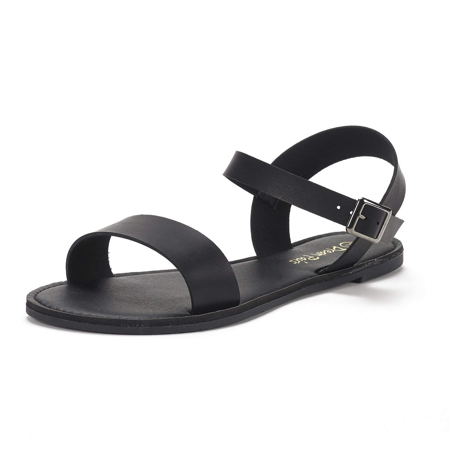 b76bca9afa Women HOBOO-NEW DREAM PAIRS Women's Cute Open Toes One Band Ankle Strap  Flexible Summer Flat Sandals New| DREAM PAIRS