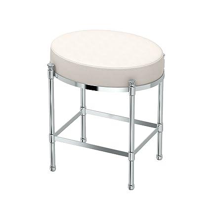 Prime Gatco 1358 Vanity Stool Oval Vanity Stool Chrome Beatyapartments Chair Design Images Beatyapartmentscom