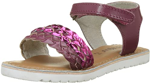 Kickers BRADWAY, Girls' Open Toe Sandals, Pink (Fuchsia Rose), 7