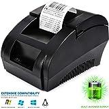 طابعة USB Thermal Receipt TEROW ملصق صغير محمول مقاس 58 مم بطباعة عالية السرعة متوافقة مع مجموعة منتجات ESC/POS المطبوعة، سهلة الإعداد