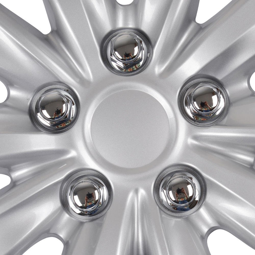 2012 BDK KT-1038-16/_amking1 Silver 16 Toyota Corolla Style Hubcaps 16 Wheel Covers-2011 2013 Model Replica Cover
