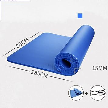 YOGA MAT GYD La Ampliación de 80cm Grueso DE 15 mm Mat Yoga ...