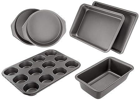 AmazonBasics - Juego de 6 utensilios antiadherentes para horno ...