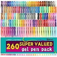 Feela 260 Colors Gel Pens 170 Percent More Ink