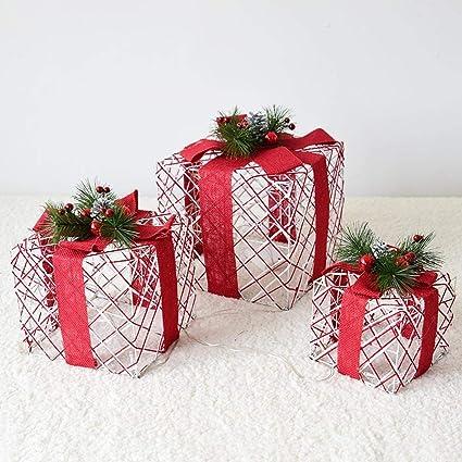 Littlefairy Adornos de Brillo Regalo Caja Regalo Paquete Pagoda Navidad árbol de Navidad decoración Juego de